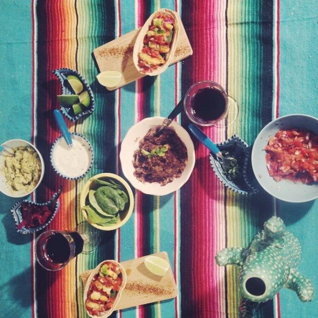 Tacos aux crevettes panées et haricots noirs 3