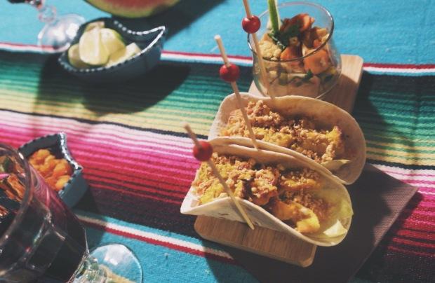 tacos poulet satay 2