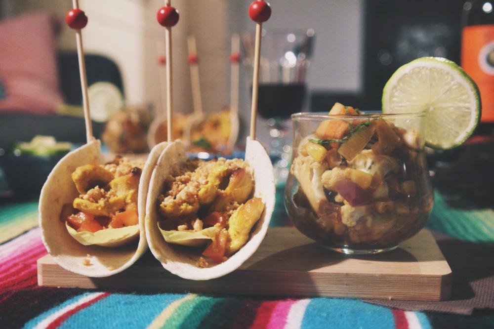 tacos poulet satay
